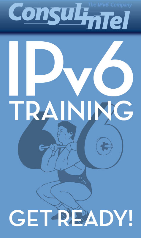 Anuncio para Facebook de symp para The IPv6 Company: IPv6 Training