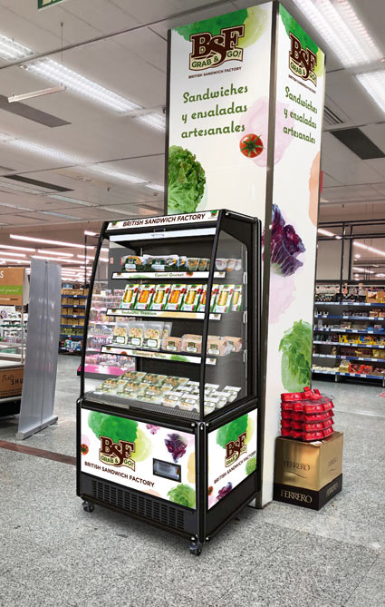 BSF :: Vitrinas para supermercados de El Corte Inglés