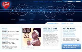Live Music Concept :: plataforma de servicios musicales