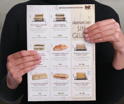 BSF :: catálogo de sándwiches 2019