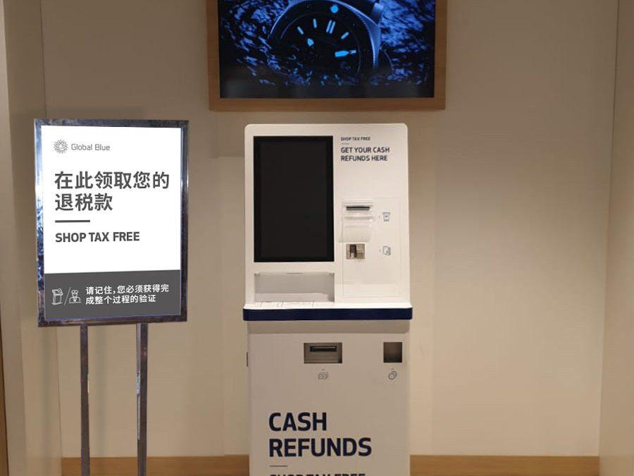 Global Blue :: cartelería y señalización