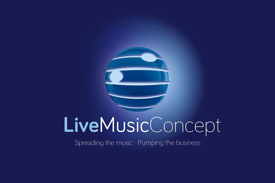 Live Music Concept : emblema corporativo y papelería