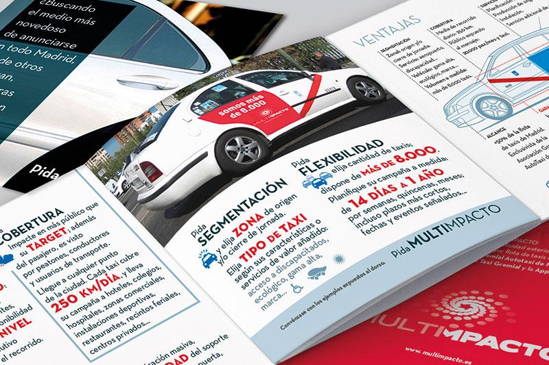 Multimpacto – Publicidad en Taxis de Madrid :: emblema y argumentario comercial