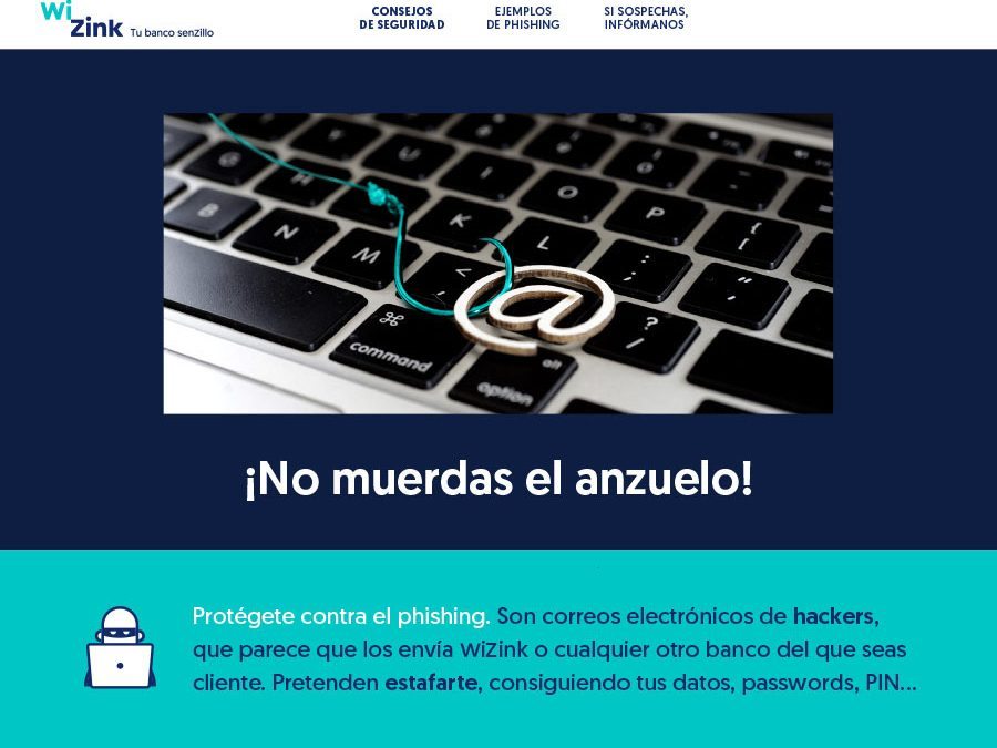 WiZink Bank :: Comunicación anti-Phising