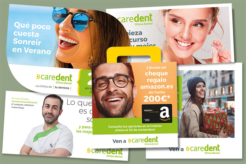 Caredent :: folletos promocionales de temporada