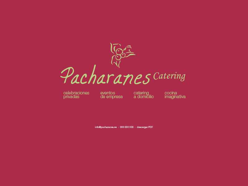 Pacharanes Catering :: diseño web