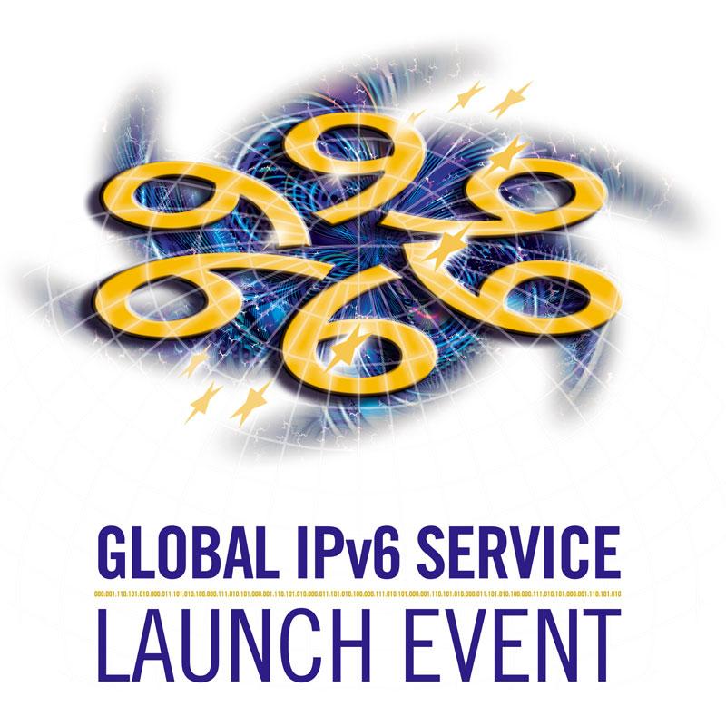 Diseños de logos y webs de symp para proyectos IPv6 de IST y European Commission