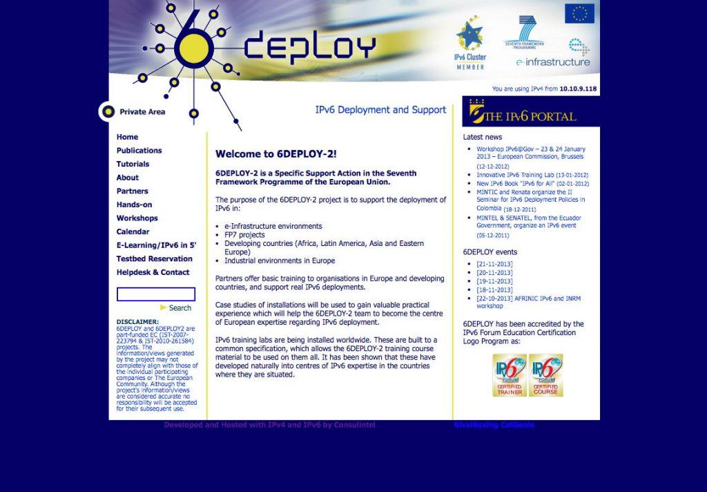 Diseño web de symp para 6deploy