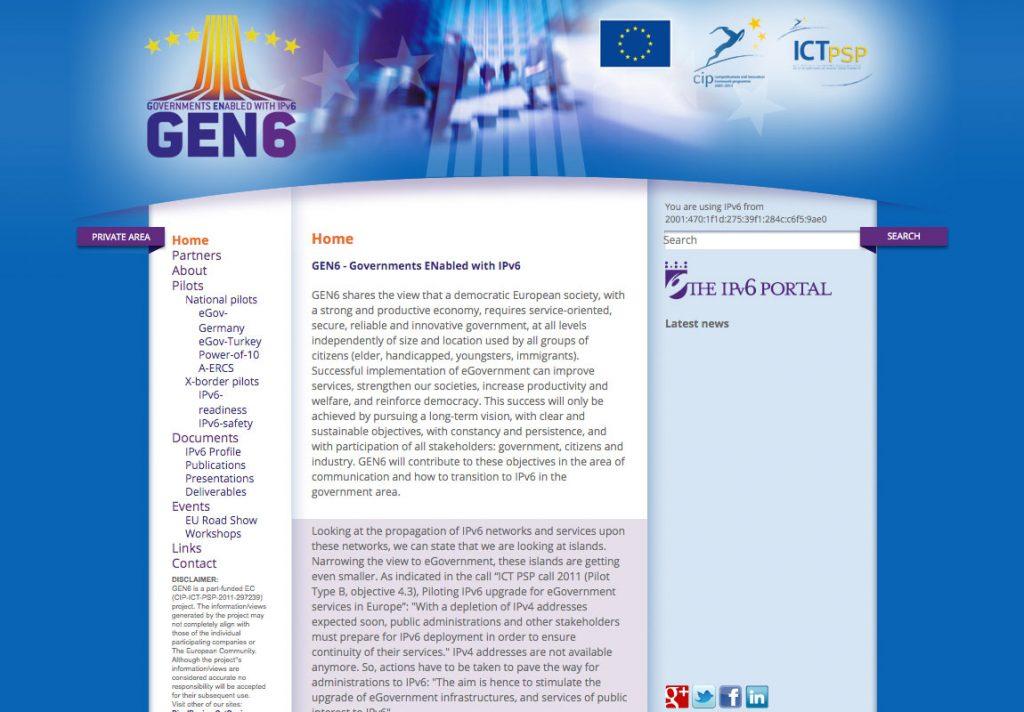 Diseño web de symp para GEN6
