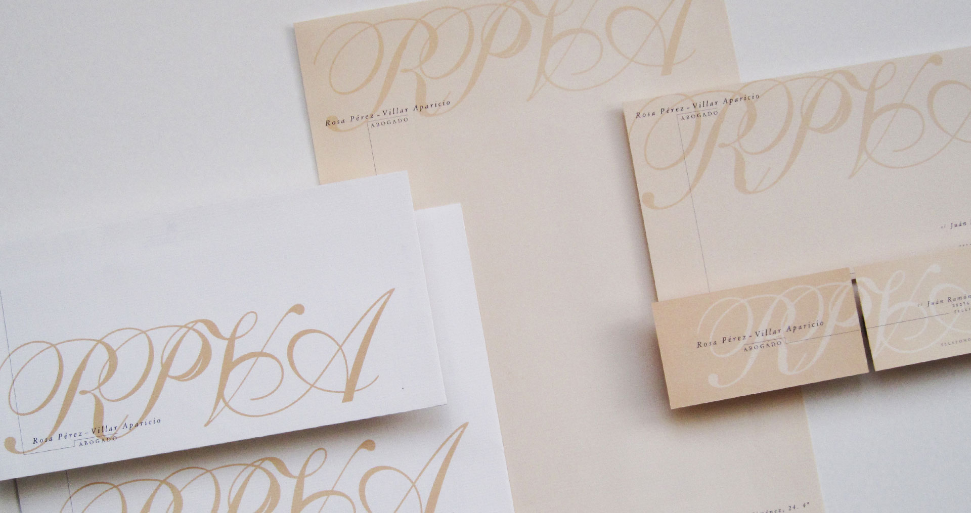 symp: logotipo y papelería para Rosa Pérez-Villar Aparicio Abogado