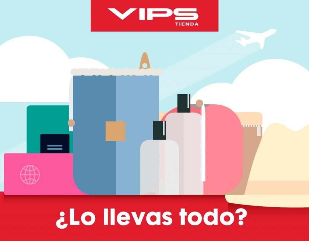 symp: banner promocional artículos de viaje para VIPS Tienda