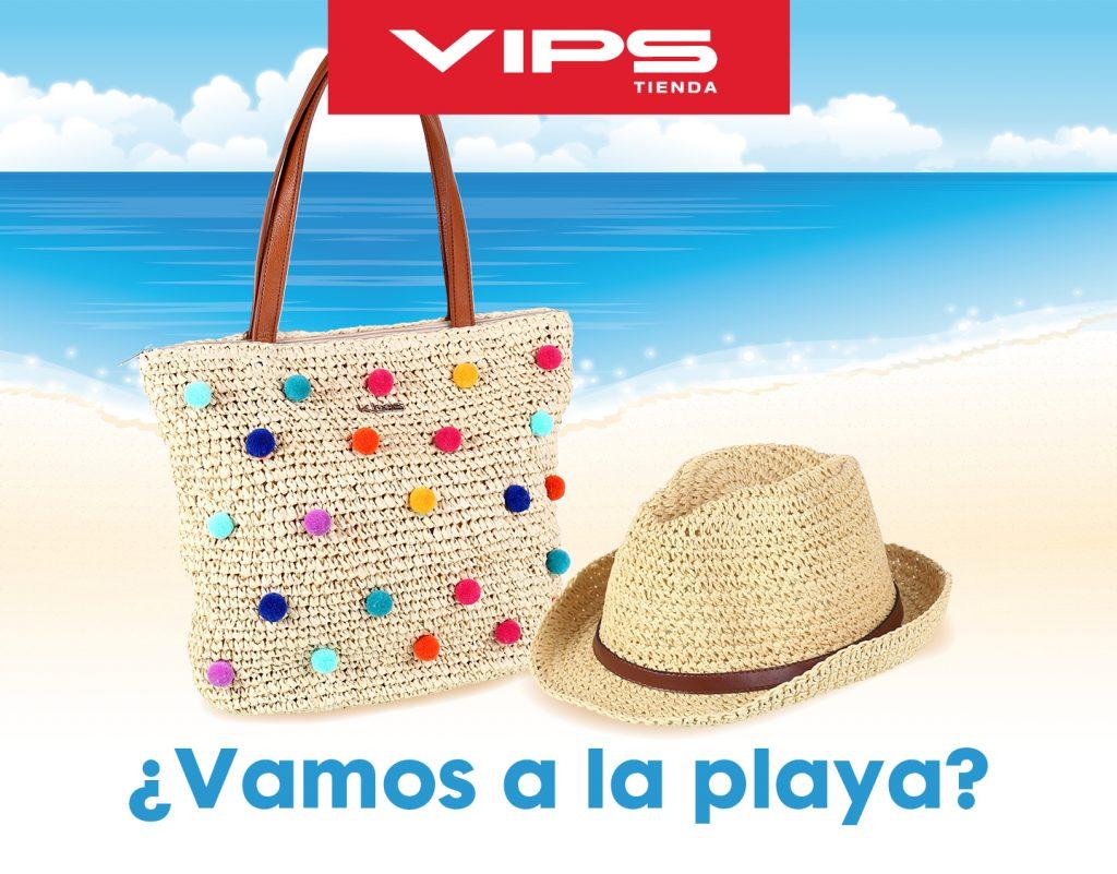 symp: banner promocional bolso de playa para VIPS Tienda