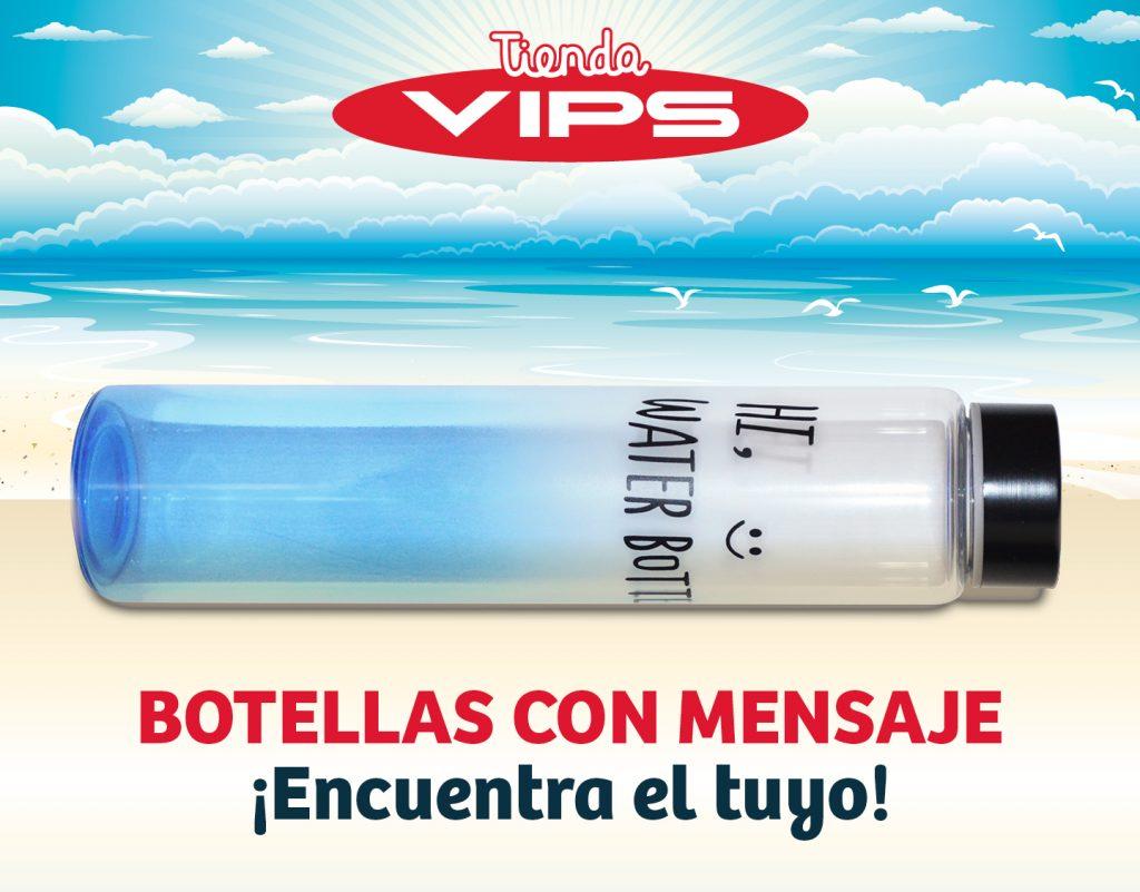 symp: banner promocional botella de viaje para VIPS Tienda
