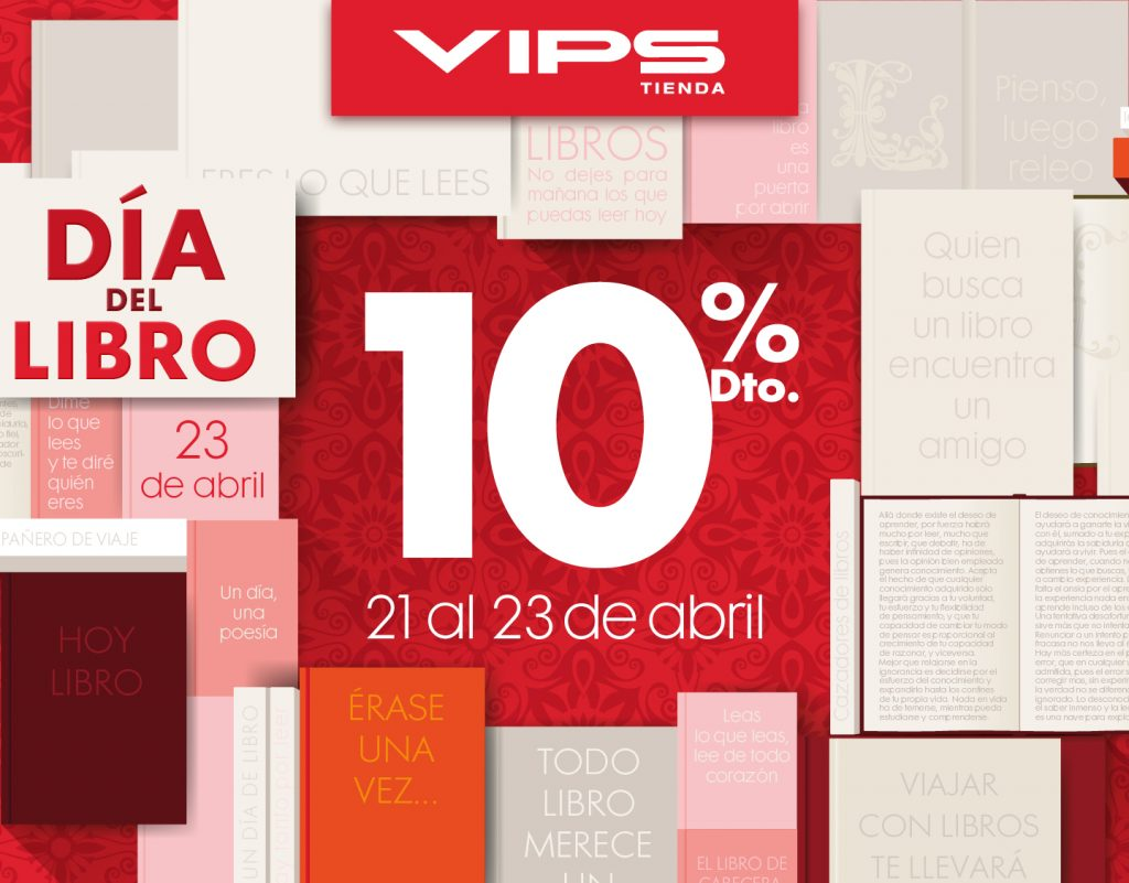 symp: banner promocional Día del Libro para VIPS Tienda