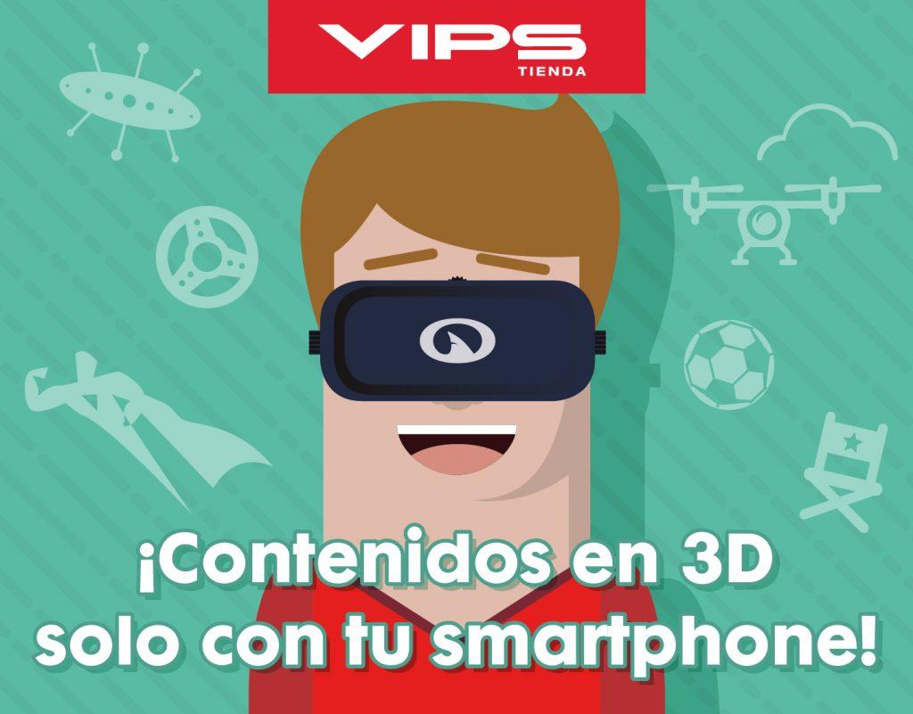 symp: banner promocional gafas 3D smartphonepara VIPS Tienda