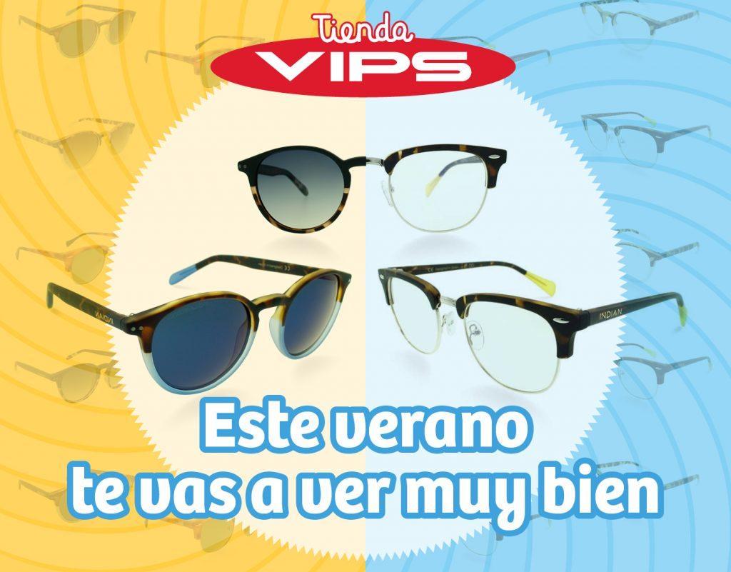 symp: banner promocional gafas de sol Indian para VIPS Tienda
