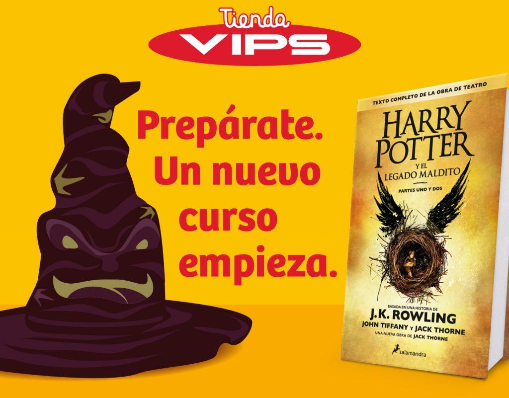 symp: banner promocional Harry Potter para VIPS Tienda