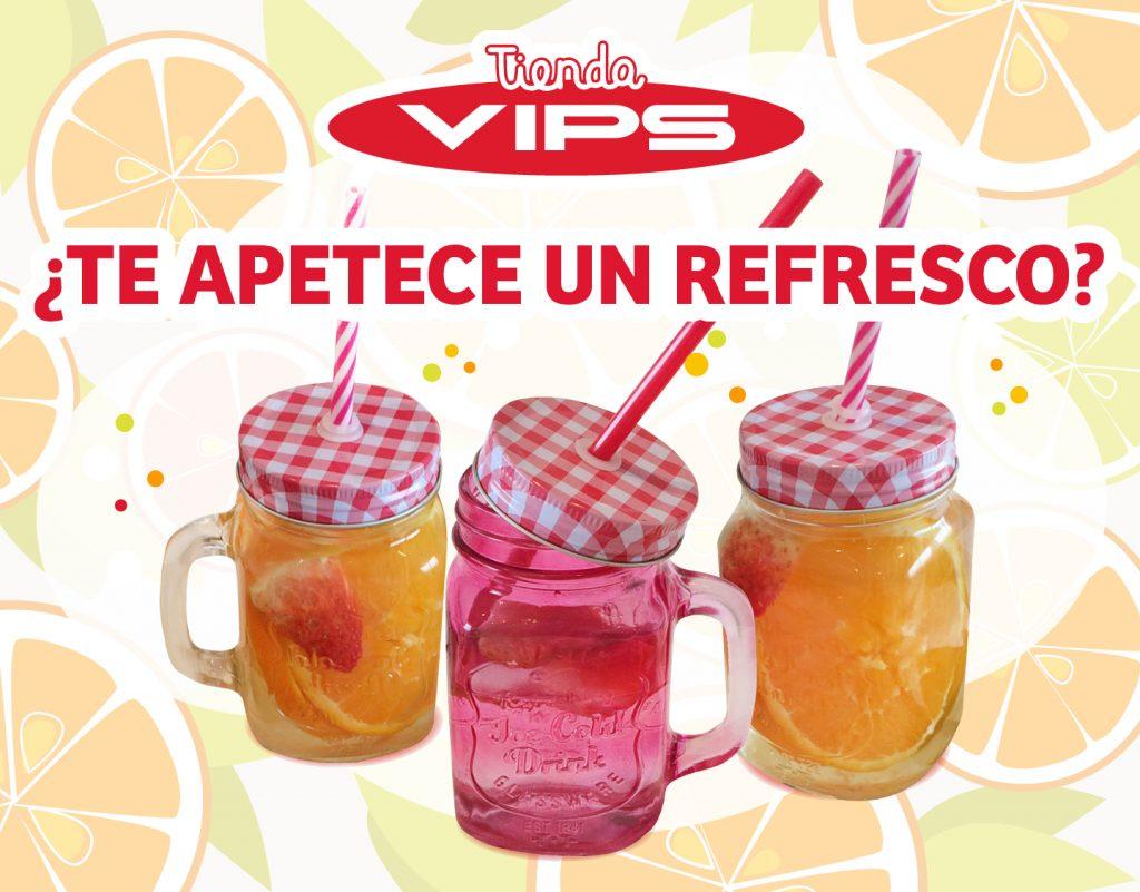symp: banner promocional jarras con pajitapara VIPS Tienda
