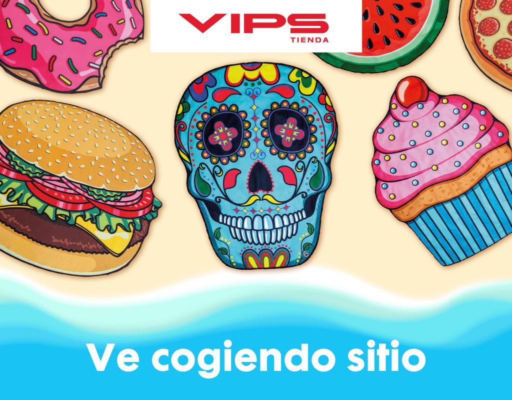 symp: banner promocional toallas gigantes para VIPS Tienda