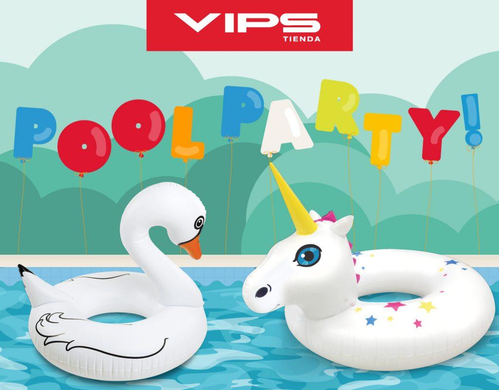 symp: banner promocional flotadores chulos para VIPS Tienda