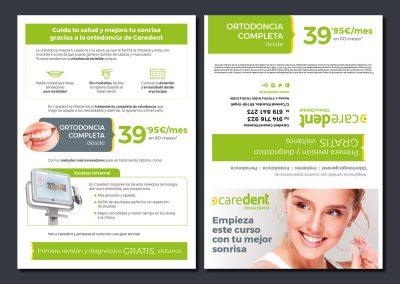 Folletos para Clínicas dentales Caredent