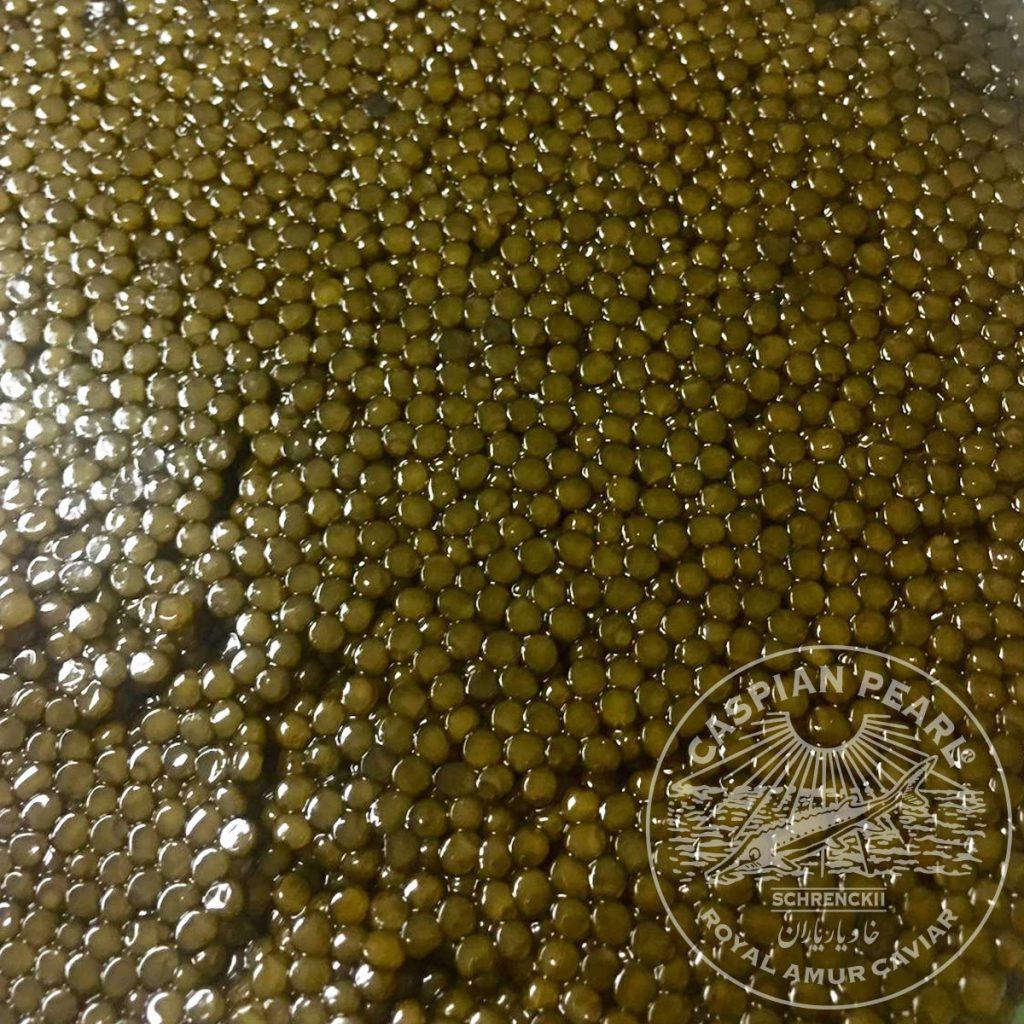 Caspian Pearl. Posts en Instagram para La Marca del Caviar. Huevas de Caviar Schrenckii Royal Amur.