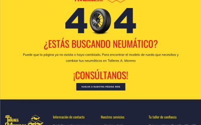 Talleres A. Moreno. Creación y diseño web neumaticosamoreno