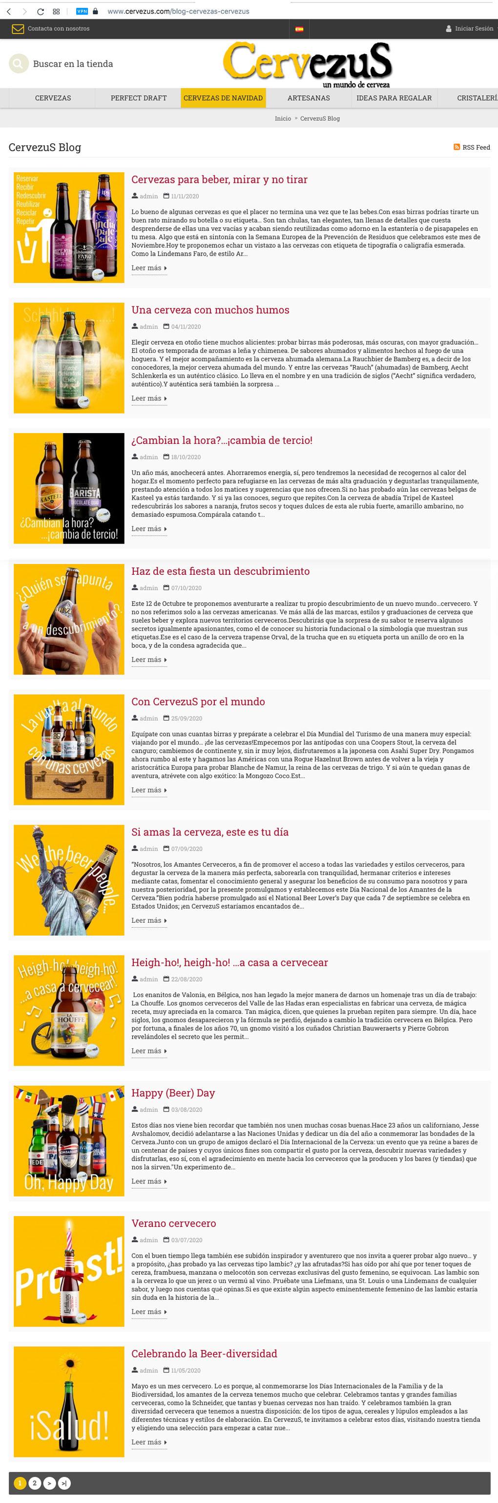 CervezuS. Blog posts para tienda online de cervezas
