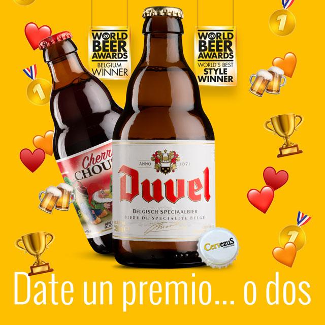 CervezuS. Blog posts: Duvel y Cherry Chouffe, premiadas en los World Beer Awards de 2020
