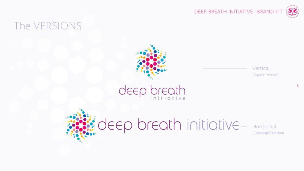 Deep Breath Initiative. Identidad corporativa. Versiones del emblema