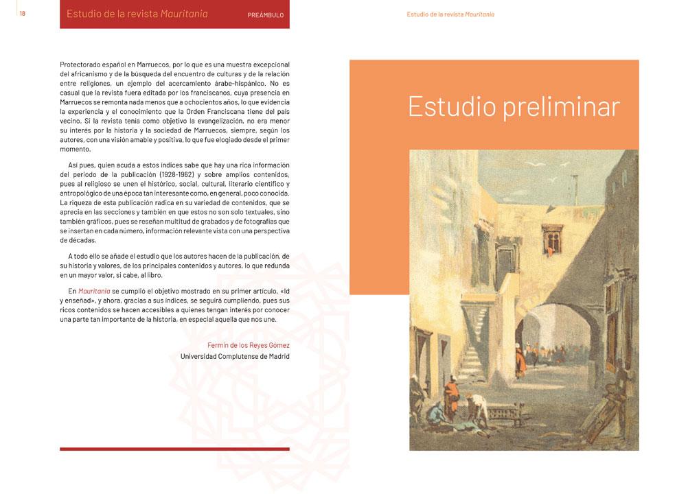 """symp: página de apertura en la maquetación del libro """"Revista Mauritania"""""""