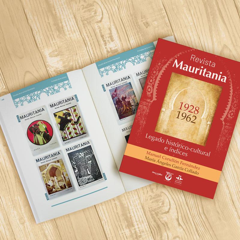 """symp: maquetación de libro """"Revista Mauritania. Legado histórico-cultural e índices"""""""